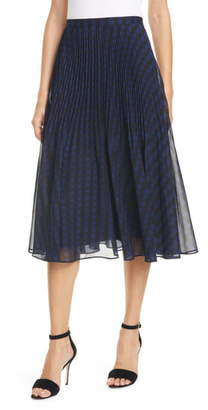 Club Monaco Yowshee Check Pleated Skirt
