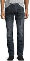 G Star G-Star 5620 3D Super-Slim Jeans, Dark Aged Splatter