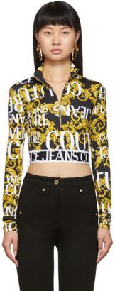 Versace Black Sprous Baroque Sweatshirt