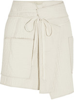 Isabel Marant Bird quilted cotton wrap mini skirt