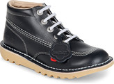 Kickers Kick hi leather boots 9-10 years