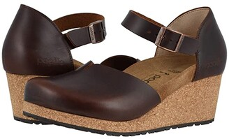 Birkenstock Mary By Papillio (Cognac Leather) Women's Wedge Shoes