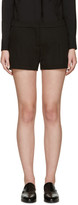 Lanvin Black Gabardine Shorts