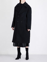 Yang Li Oversized double-breasted brushed-wool coat