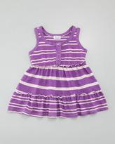 Splendid Littles Sugarcane Striped Tank Dress, Jellyfish, 3-24 months