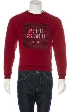 Opening Ceremony Embroidered Graphic Sweater