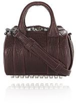 Alexander Wang Mini Rockie In Pebbled Beet With Rhodium