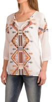 Roper Challis Embroidered Shirt - 3/4 Sleeve (For Women)