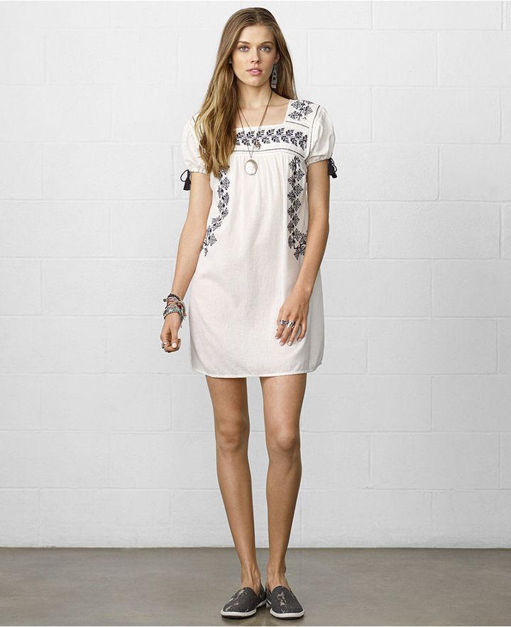 Denim & Supply Ralph Lauren Short-Sleeve Embroidered Peasant Dress