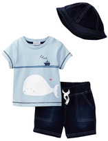 Absorba Tee, Short, & Hat Set (Baby Boys)