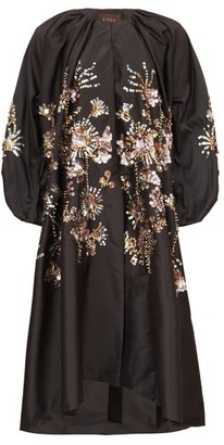 Biyan Raquela Sequin-embroidered Taffeta Coat - Black Multi