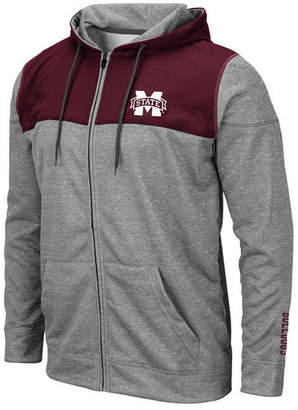 Colosseum Men Mississippi State Bulldogs Nelson Full-Zip Hooded Sweatshirt
