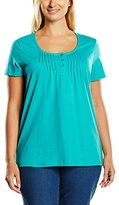 Sheego Women's Short Sleeve T-Shirt - Turquoise -