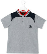 Roberto Cavalli leopard back motif polo shirt - kids - Cotton - 8 yrs