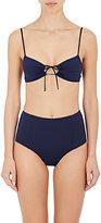 MALIA JONES Women's Tie-Front Bikini Top