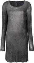 Avant Toi fitted metallic dress