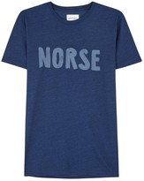 Norse Projects Logo Navy Cotton T-shirt