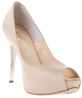 BEATRIX ONG - 'Naida' satin platform peep-toe shoes