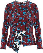Tanya Taylor Penelope asymmetric printed silk top