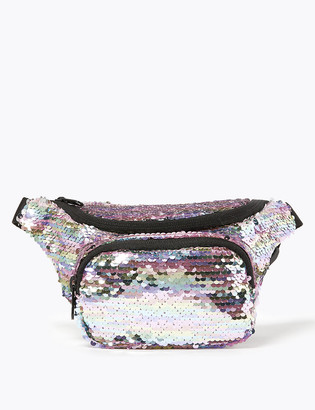 Marks and Spencer Kids' Reversible Sequin Bumbag