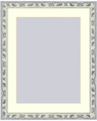 Frames By Mail Wall Picture Frame Light Gray Silver Ornate frame - acid-free white ma
