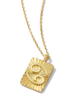 Thumbnail for your product : David Webb Cancer Zodiac Pendant Necklace in 18k Gold