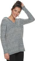 Sonoma Goods For Life Women's SONOMA Goods for Life Supersoft V-neck Hooded Sweater