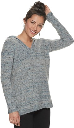 Women's SONOMA Goods for Life Supersoft V-neck Hooded Sweater