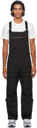 C.P. Company Black Zipper Utility Overalls