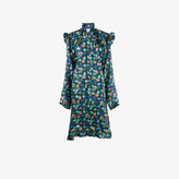 Vetements Biker floral print asymmetric dress