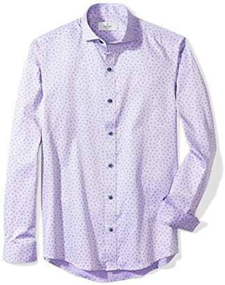 Buttoned Down Men's Fitted Supima Cotton Spread-Collar Pattern