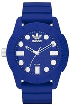 adidas 'adi-1969' Silicone Strap Watch, 44mm
