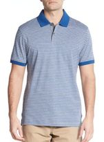 Michael Kors Shadow Stripe Cotton Polo