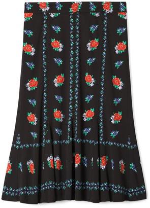 Tory Burch Printed Jersey Skirt