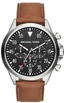 MICHAEL Michael Kors Men's Michael Kors 'Gage' Chronograph Leather Strap Watch, 45Mm