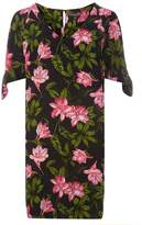 Dorothy Perkins Tropical Print Tie Sleeve Shift Dress