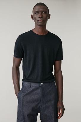 Cos Short-Sleeved Linen T-Shirt