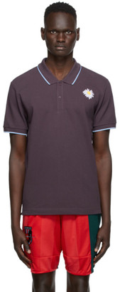 McQ Purple Flower Embroidery Polo