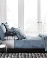 Hotel Collection Colonnade Blue King Coverlet