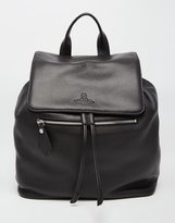 Vivienne Westwood Leather Backpack - Black