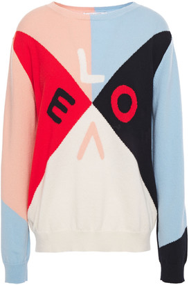 Chinti and Parker Color-block Intarsia Cashmere Sweater
