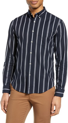 Club Monaco Chelsea Slim Fit Stripe Button-Down Shirt