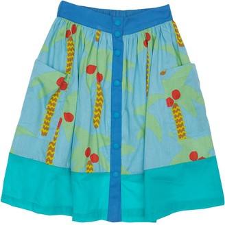 Stella McCartney Kids Palm Tree Print Organic Cotton Skirt