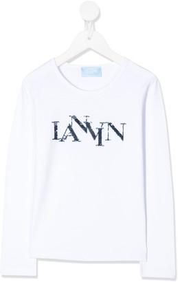 Lanvin Enfant sequin logo T-shirt