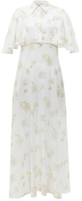 La Costa Del Algodon - Fedora Florine Floral-print Cotton Dress - Womens - White Print