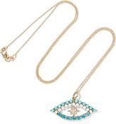 Ileana Makri Shiny Star Eye 18-karat Gold Multi-stone Necklace - one size