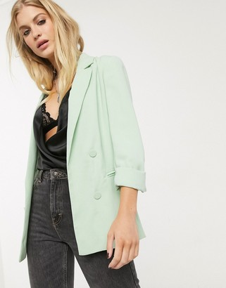 Bershka oversized blazer in mint