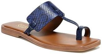 Franco Sarto Milly Snakeskin Embossed Flat Sandal