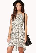 Forever 21 Cheetah Print Chain Strap Dress
