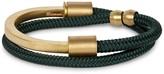 Miansai Modern Green Rope And Cuff Bracelet